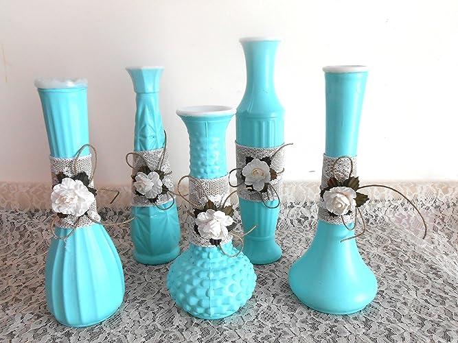 Amazon Vintage Milk Glass Upcycled Flower Vases Bud Vases