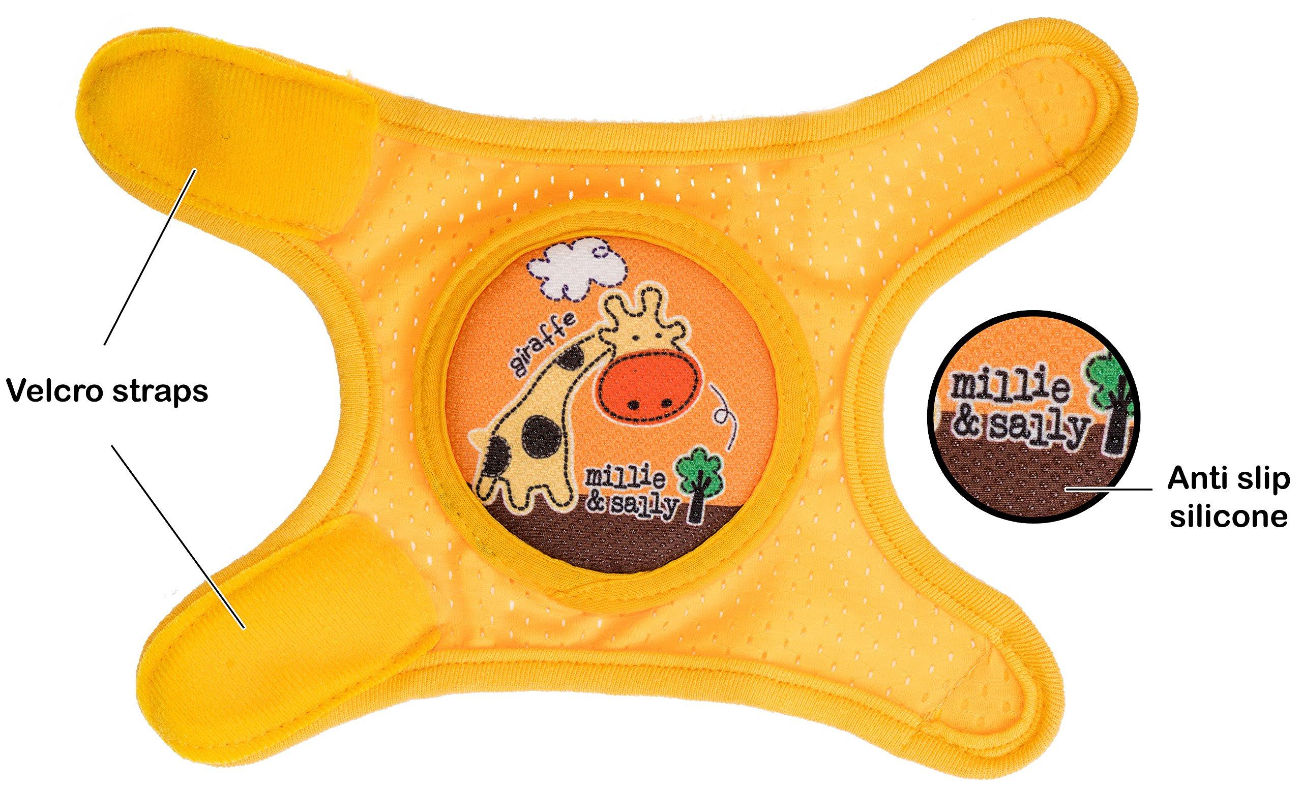 Baby Knee Pads Anti-Slip Walking Kneepads Adjustable Hook & Loop Strap Unisex For Boys Girls Infant Toddler Knee & Elbow Pads Memory Foam Pad Cushion Breathable Mesh Fabric Knee Pads For Babies by Kstar (Image #6)