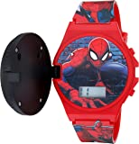 Marvel Quartz Watch with Plastic Strap, red, 19 (Model: SPD4483)