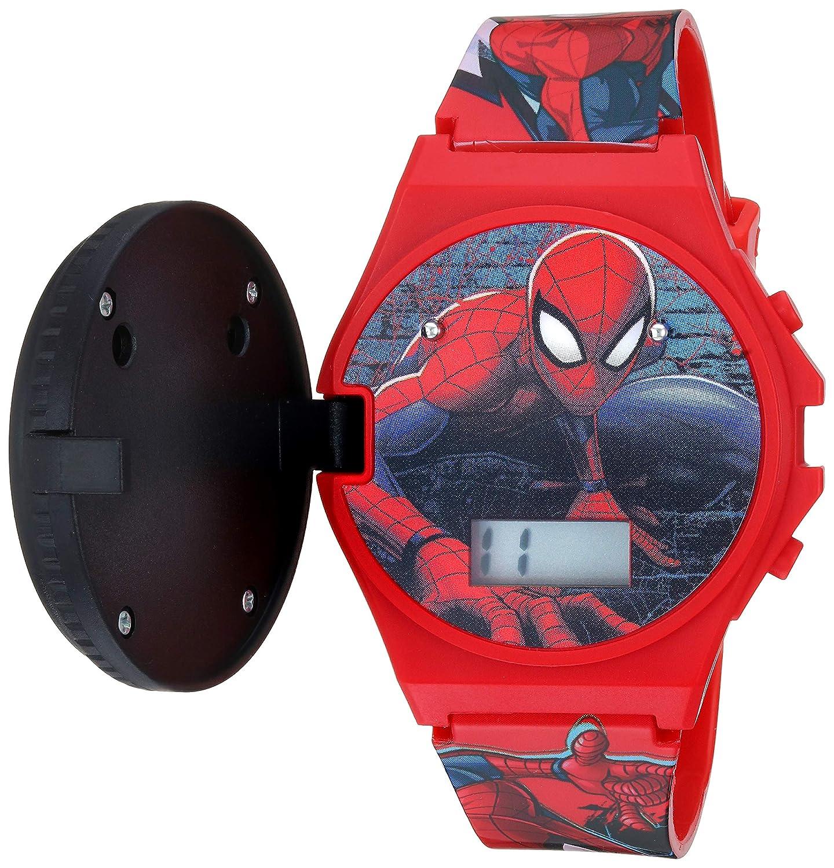 Marvel Quartz Watch with Plastic Strap, red, 19 Model SPD4483