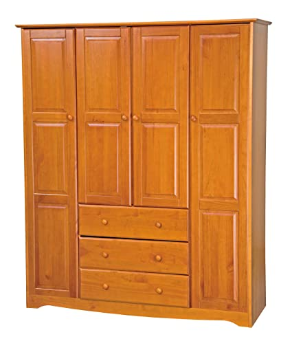 100% Solid Wood Family Wardrobe/Armoire/Closet 5964 By Palace Imports