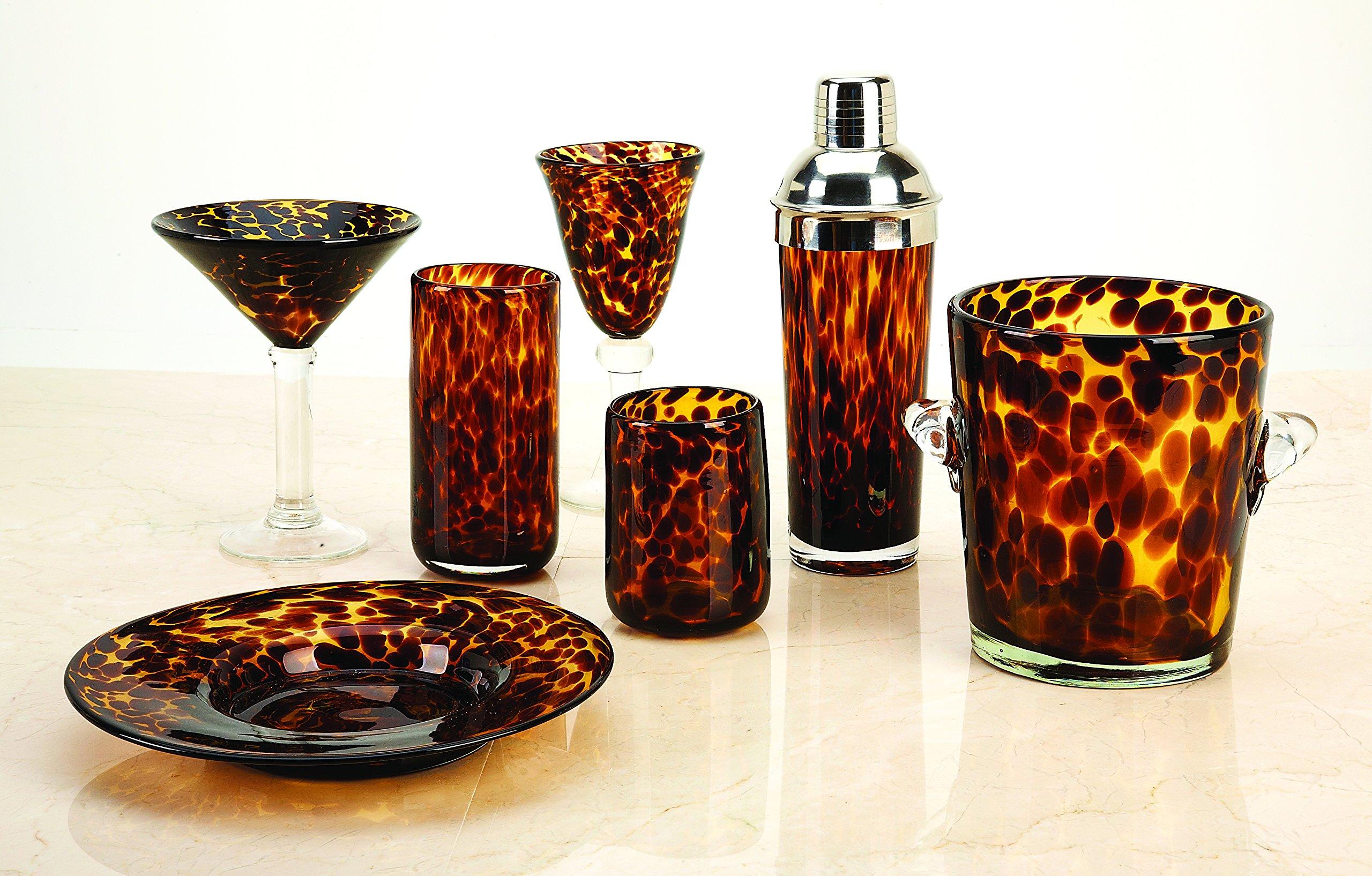 Impulse Tortoise Rocks Glass, Brown/Spotted, Set of 4