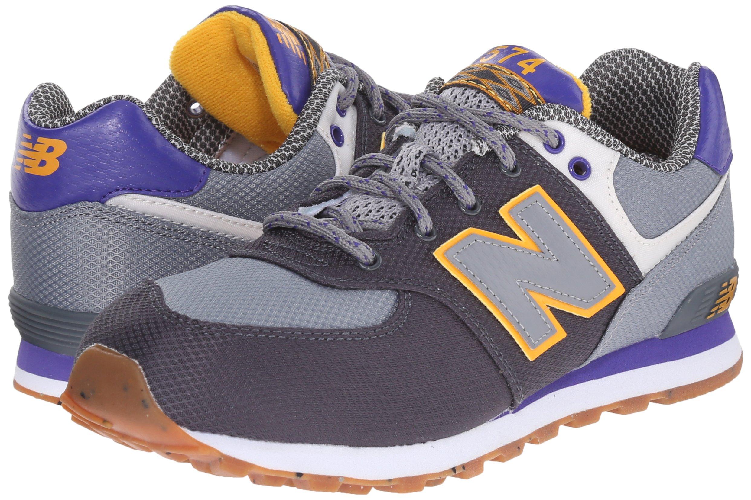 New Balance KL574E7G Schuhe grey-purple heather - 35,5
