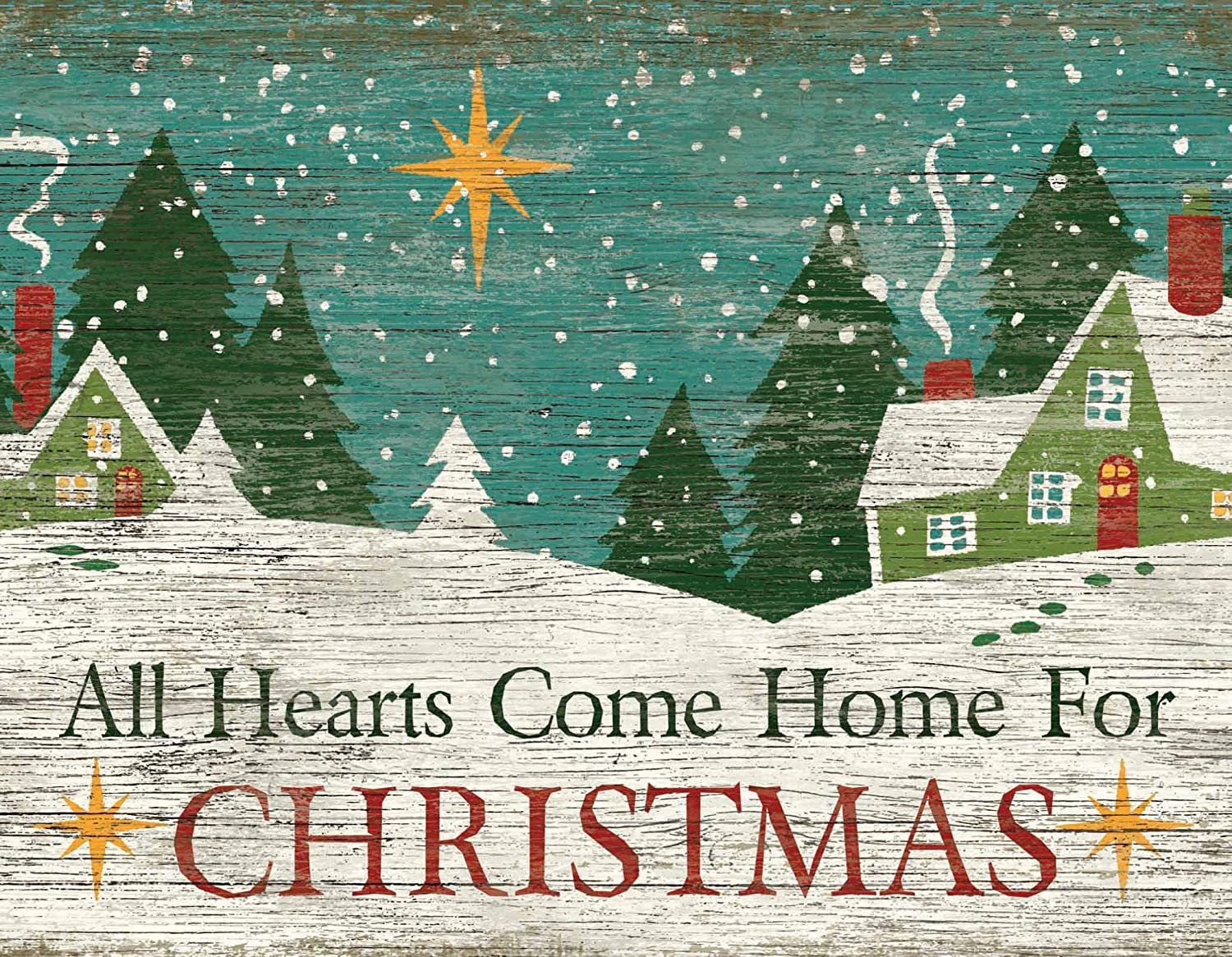 "LANG - ""Christmas Heart"", Boxed Christmas Cards, Artwork by Suzanne Nicoll"" - 18 Cards, 19 envelopes - 5.375"" x 6.875"""