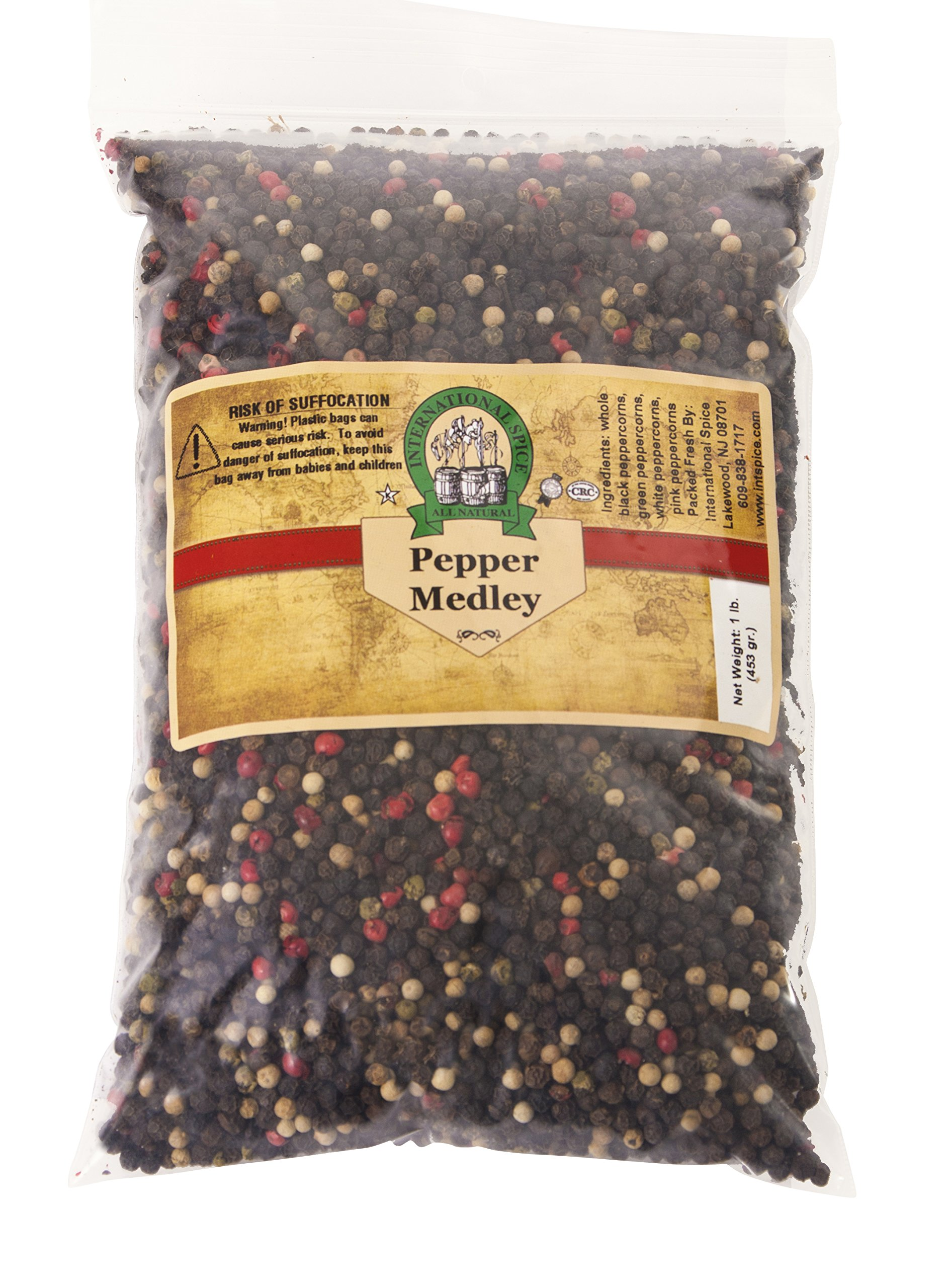 International Spice- Mixed Peppercorns (Whole)-: 16 Oz. Bag by International Spice