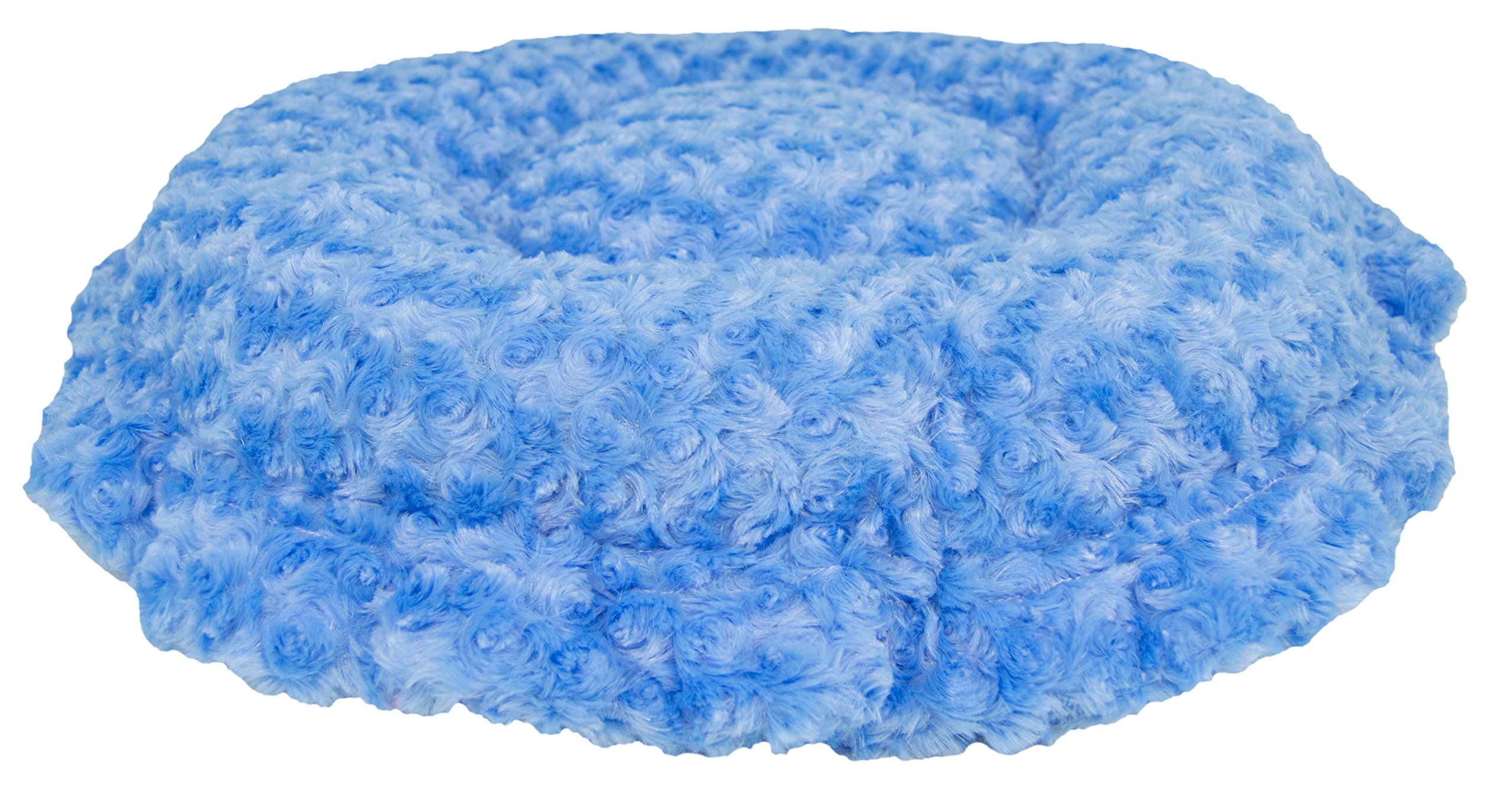 BESSIE AND BARNIE Ultra Plush Blue Sky/Wolfhound Grey (Patch) Shag Luxury Shag Deluxe Dog/Pet Lily Pod Bed by BESSIE AND BARNIE (Image #4)
