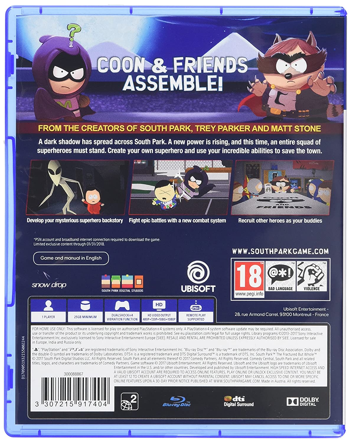 South Park The Fractured but Whole (PS4): Amazon co uk: PC
