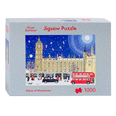 Alison Gardiner Designs - 1000 Piece Christmas Jigsaw Puzzle - Premium Made in England - Palace of Westminster: Toys & Games
