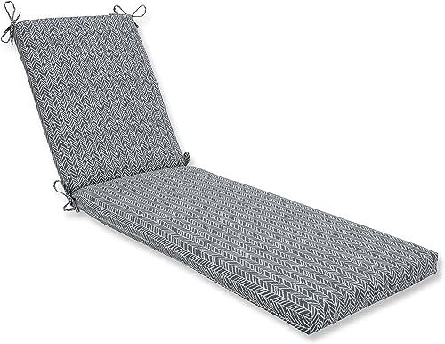 Pillow Perfect Outdoor/Indoor Herringbone Slate Seat Cushion