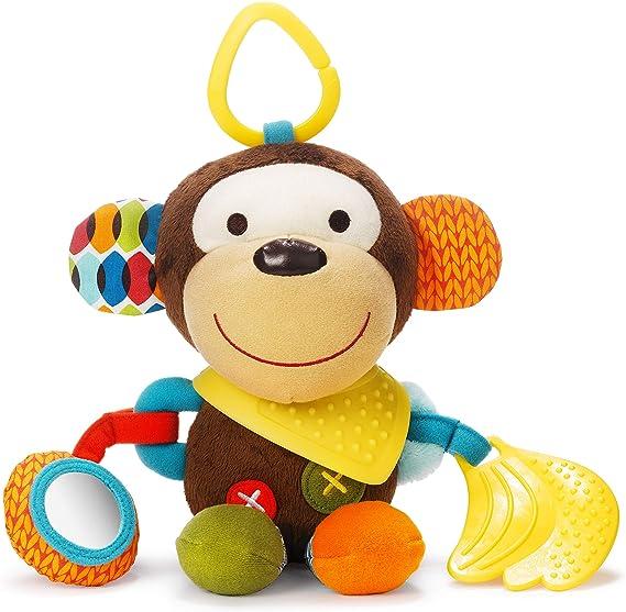 Imagen deSkip Hop-306201 Bandana Buddies, Juguete de Actividad, Peluche para Bebés y Niños, Mono, Multicolor (306201)