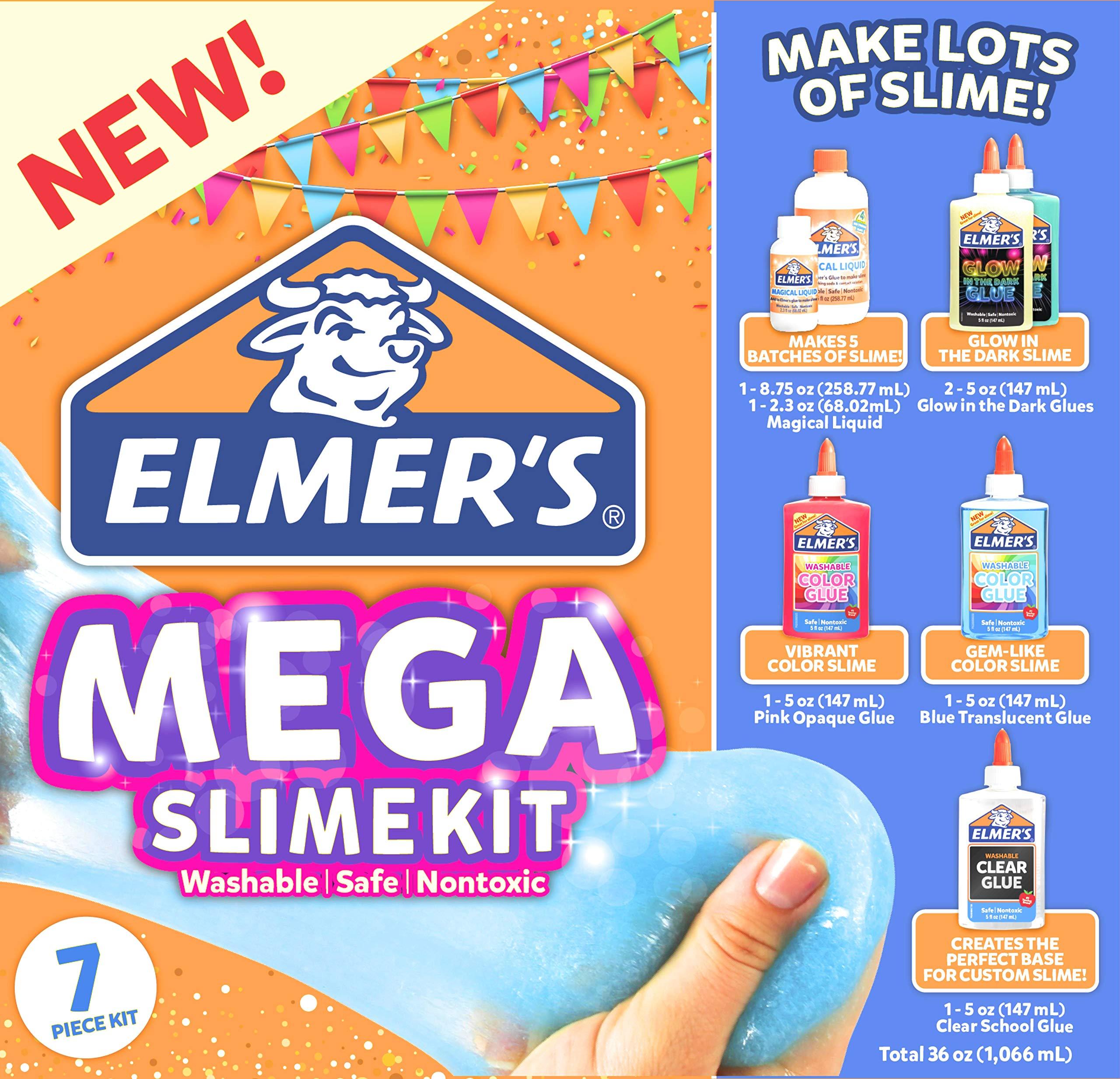 Elmer's Mega Slime Kit Glow in The Dark and Gem-Like Slime