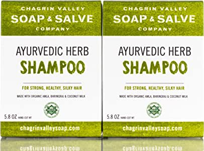 Chagrin Valley Soap & Salve Organic Natural Shampoo Bar, Ayurvedic Herb 2X Pack