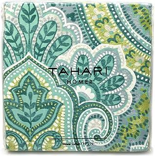 Amazon.com: Tahari IZMIR Fabric Shower Curtain Blue Green Yellow ...