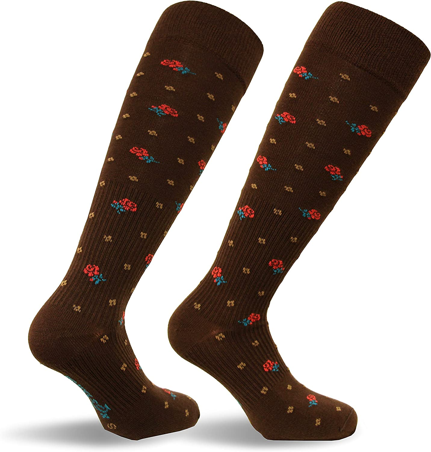 Travel Travelsox Italy Ladies Graduated Compression Socks TS0867 Floral Womens Coolmax Dress Play,