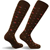 Travelsox Italy Ladies Graduated Compression Socks TS0867 Floral Womens Coolmax Dress, Travel, Play,