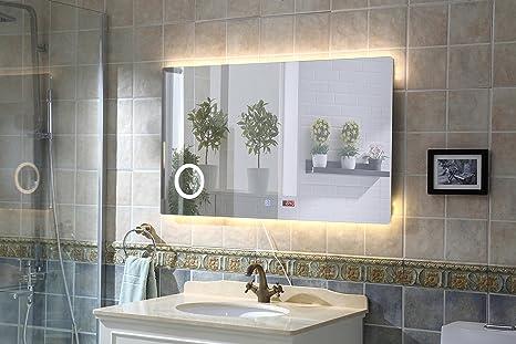 Badspiegel mit Beleuchtung Wandspiegel SPIEGEL Touch Badezimmerspiegel 120X60