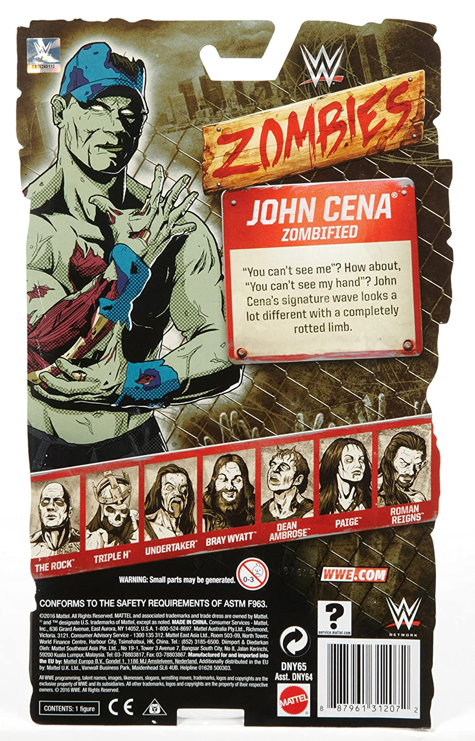 Amazon.com: WWE Zombie John Cena Figure: Toys & Games