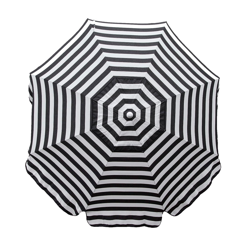 Heininger 1305 destino Gear italiano rayas negro y blanco 7,5 M Patio paraguas: Amazon.es: Coche y moto