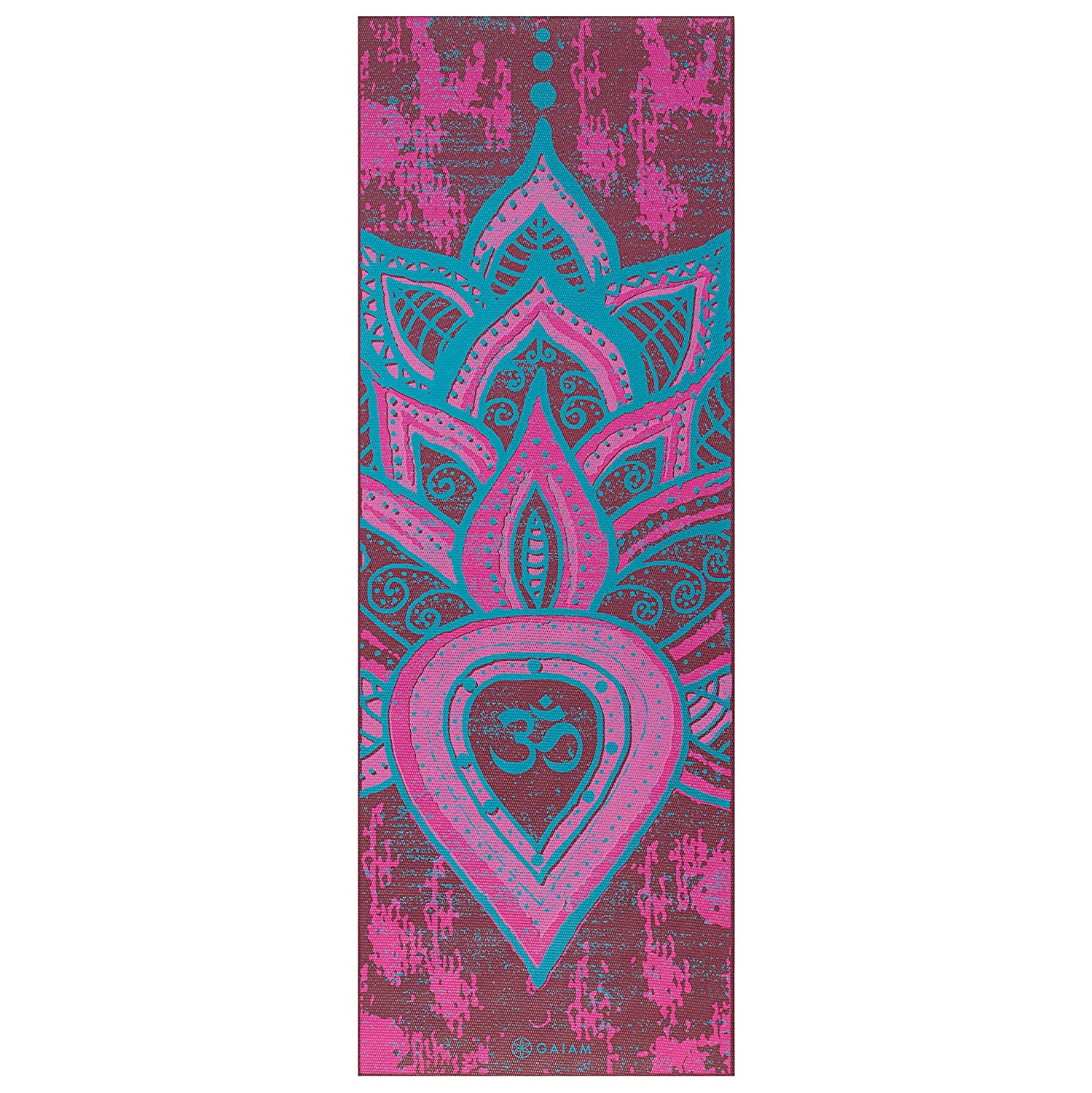 Gaiam Print Premium Reversible Quot Be Free Quot Yoga Mat 5mm