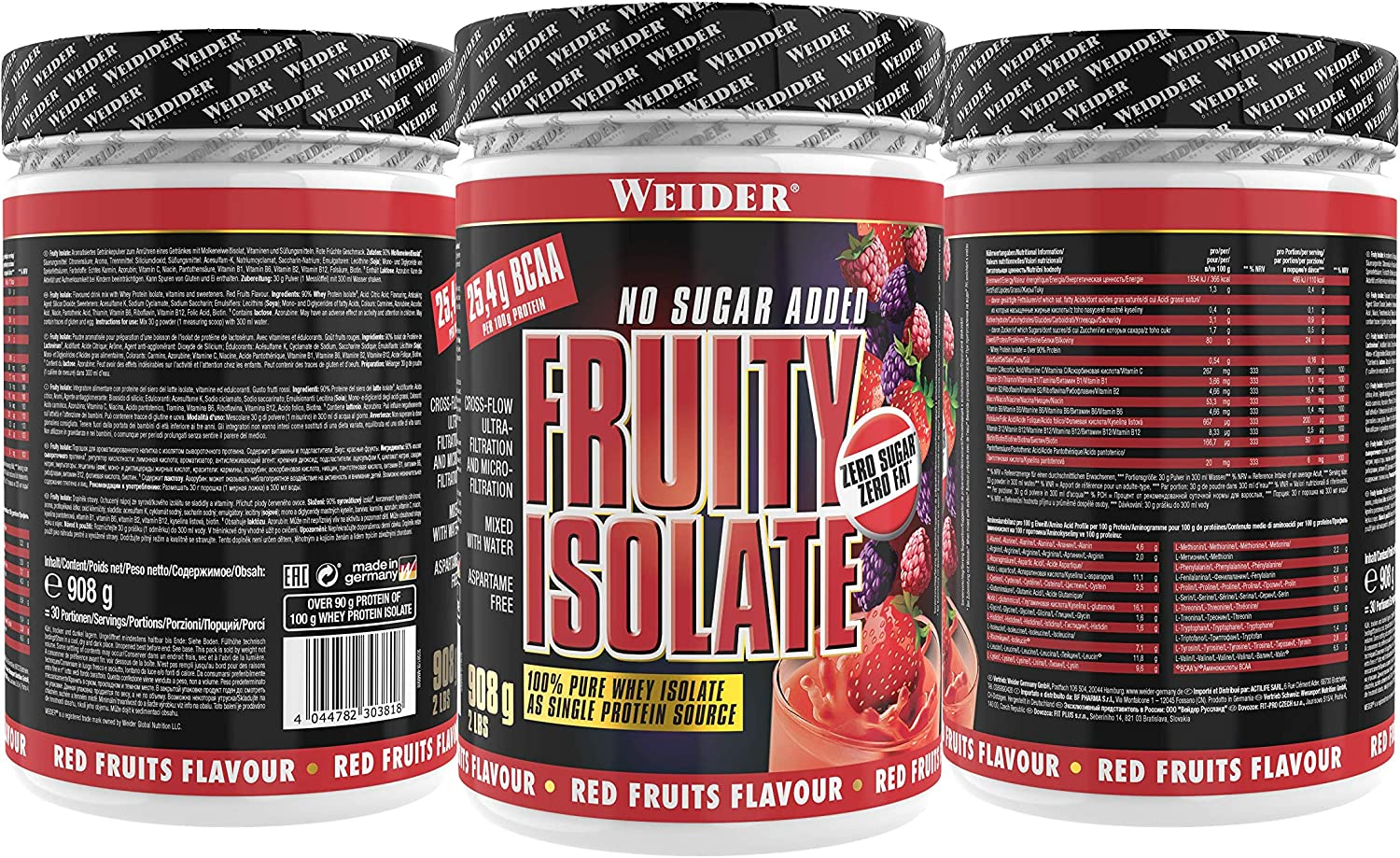 Weider Nutrition Fruit Isolate Red Fruits 908g: Amazon.es ...