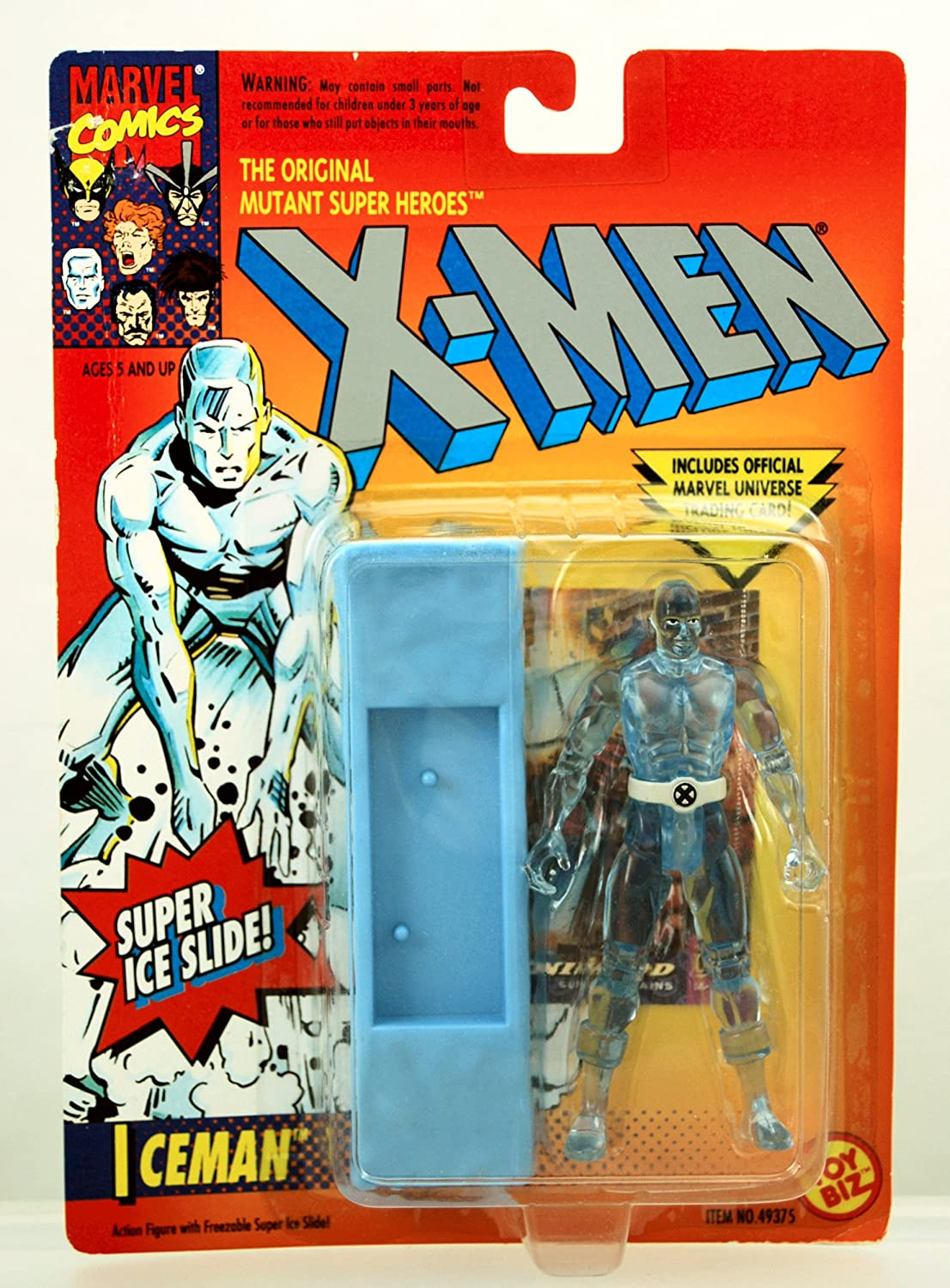 "1994 Toy Biz 49375 Marvel Comic Hero MINT! X-Men Iceman 5/"" Action Figure MIP!"