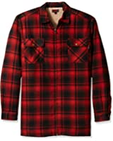 Wolverine Men's Big and Tall Marshall Flannel Sherpa Lined Full Zip Shirt Jacket