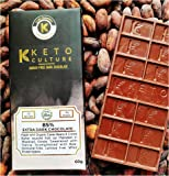 Nepenthe Coffee and Chocolates Keto Culture - 85% Dark Cacao Dark Chocolate ( Super Food ) (Mysore Unsweetened ) 60% Cacao Dark Chocolate - (Sugar Free) - (Maltitol Free) made with Organic Cacao Bean - Sweetened with Stevia; Strengthened with Raw, Hormone-Free, Lactose Free, Whey Protein Isolate - Low In Carbs, 60 g