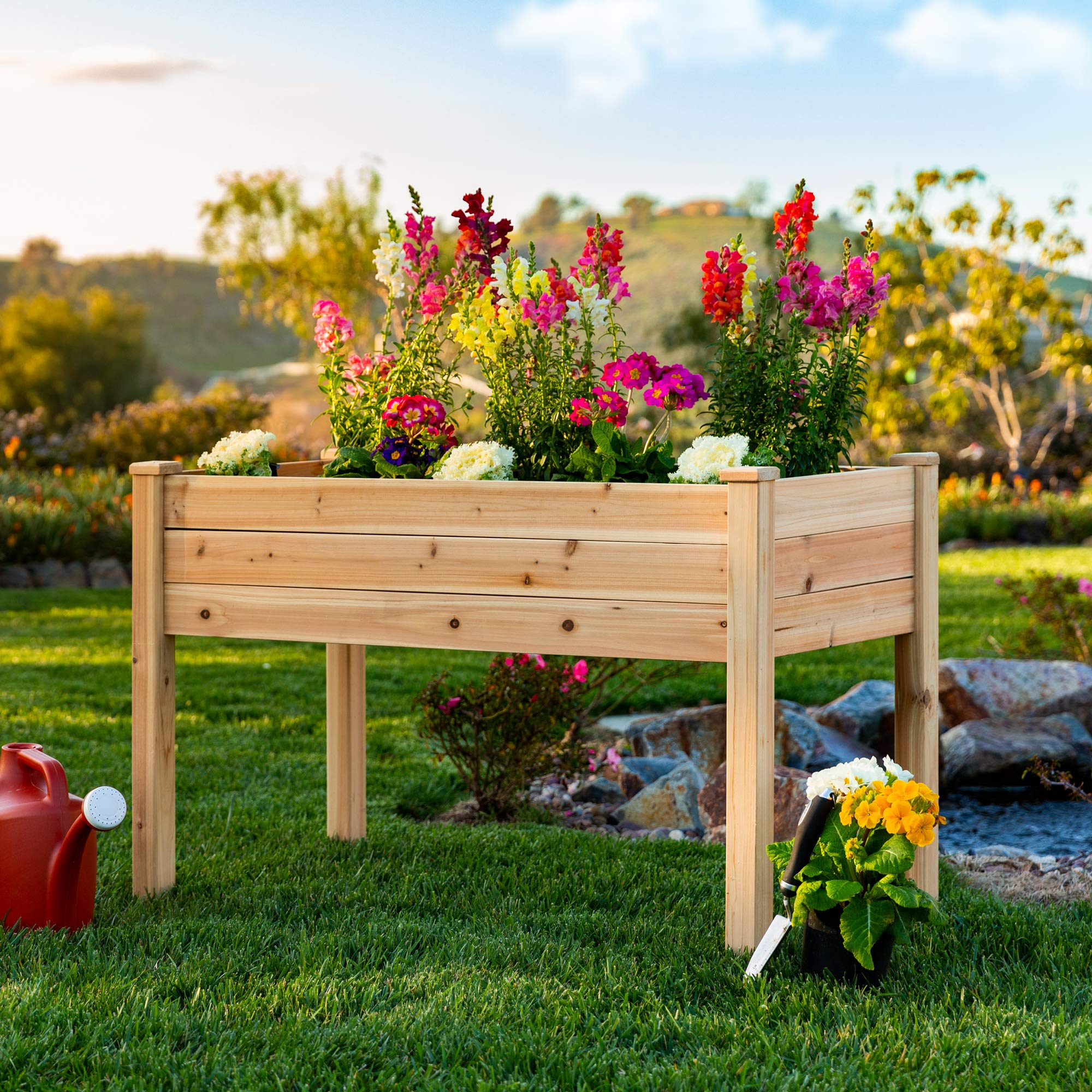Best Choice Products Raised Garden Bed 48x24x30in Elevated