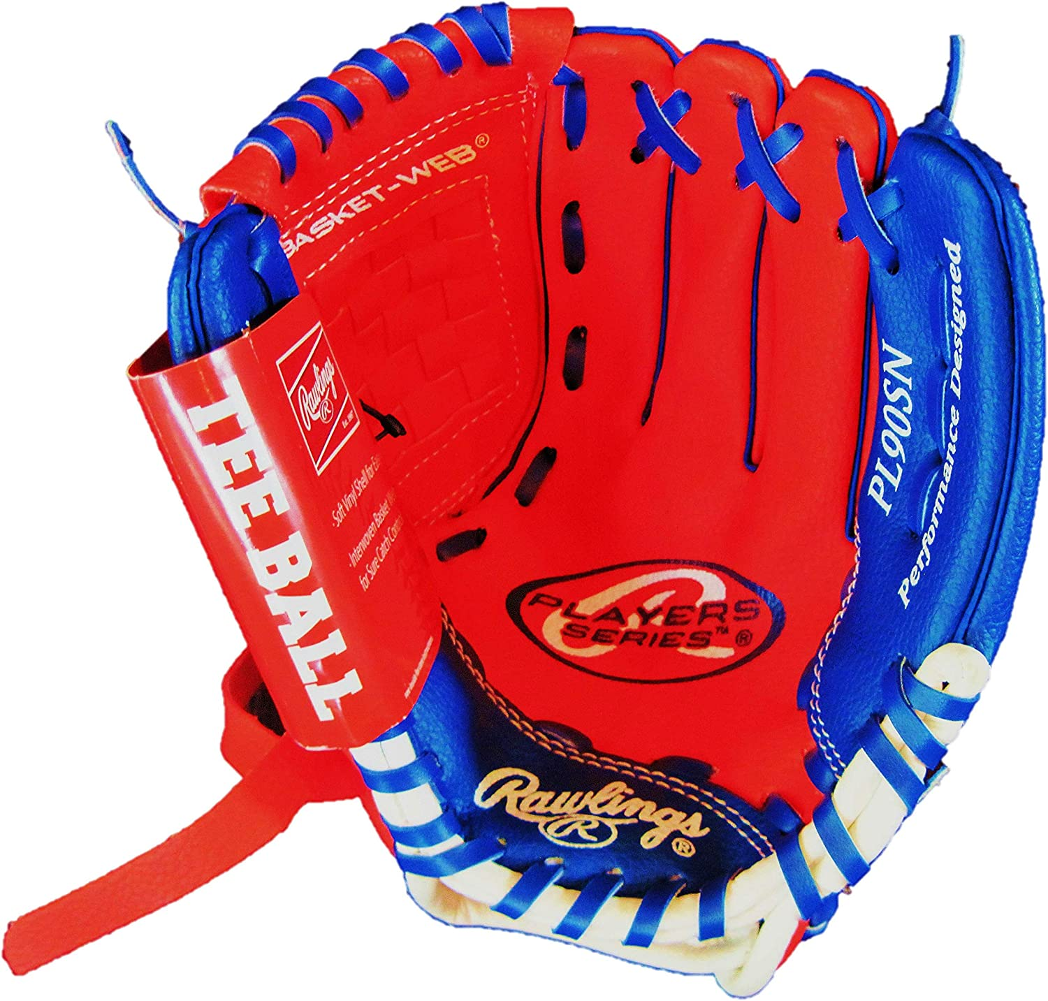 "Amazon.com : Rawlings YOUTH GLOVE 9"" Tee Ball RIGHT HAND THROW Red ..."