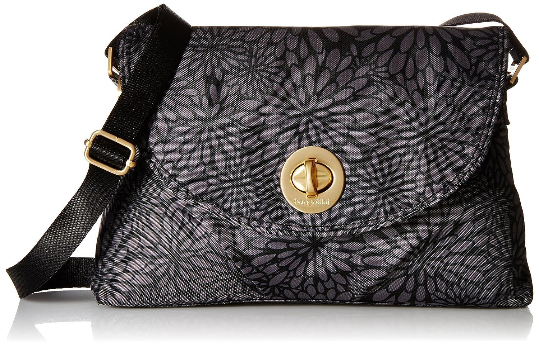 71d0160fd Baggallini Nassau Crossbody Gold Hardware, Pewter Floral, One Size:  Handbags: Amazon.com