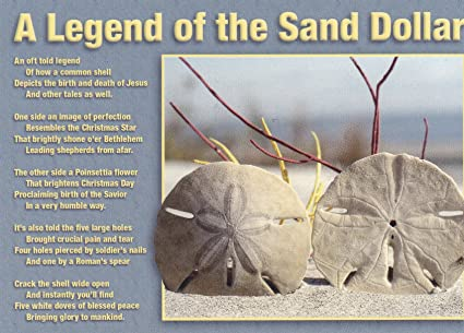 photograph regarding Legend of the Sand Dollar Poem Printable named TRK2T931 T-931 A LEGEND OF THE SAND Greenback POSTCARD [ Brand name Refreshing Shiny CRISP POSTCARD 6\