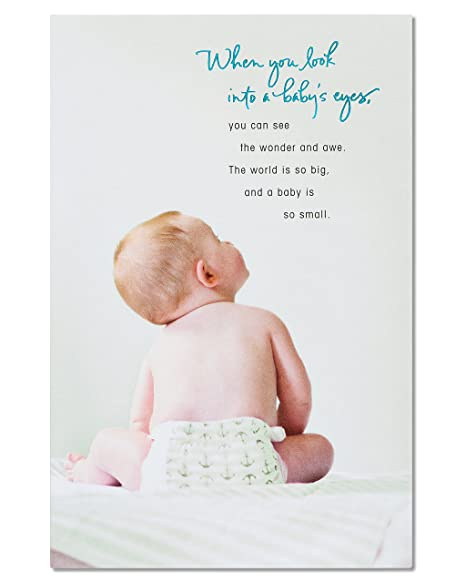 Amazon.com: american greetings Wonder y Awe nuevo bebé ...