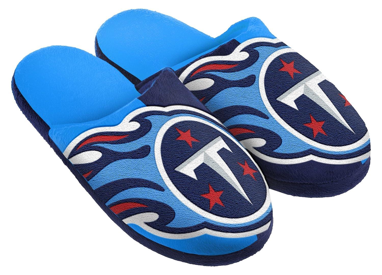 FOCO NFL Unisex Split Color Color Color Slide Slipper, Color del Equipo, Mediano aacaac
