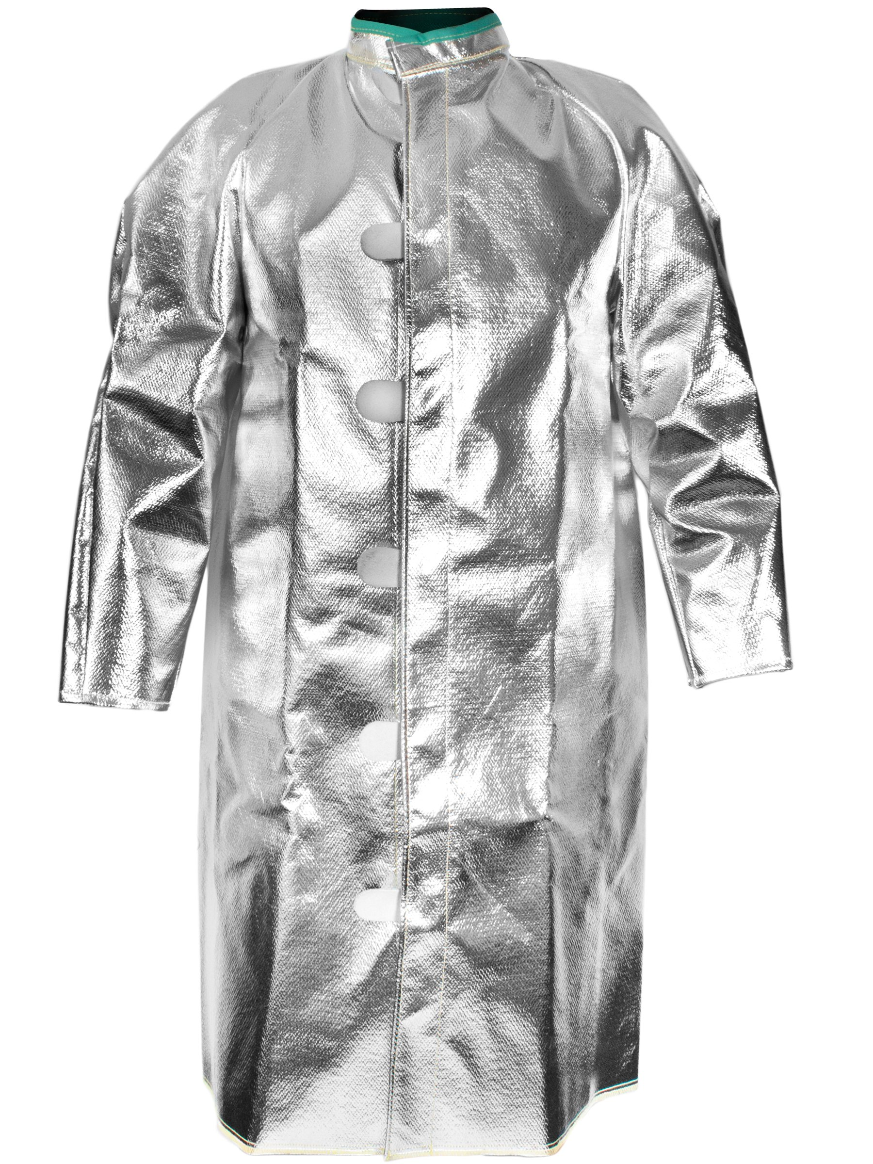 National Safety Apparel C22NLLG45 Carbon/Para-Aramid Coat, 45'', Large, Aluminized