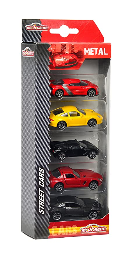 Majorette Autos-Set 5-teilig - Juguete (Antracita, Negro, Rojo, Amarillo): Amazon.es: Juguetes y juegos