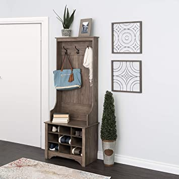 Pleasant Prepac 27 9 Shoe Cubbies Narrow Hall Tree Drifted Gray Evergreenethics Interior Chair Design Evergreenethicsorg