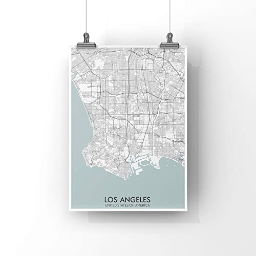 picture relating to Printable Map of Los Angeles called : Los Angeles Map Print Poster Map Artwork Print