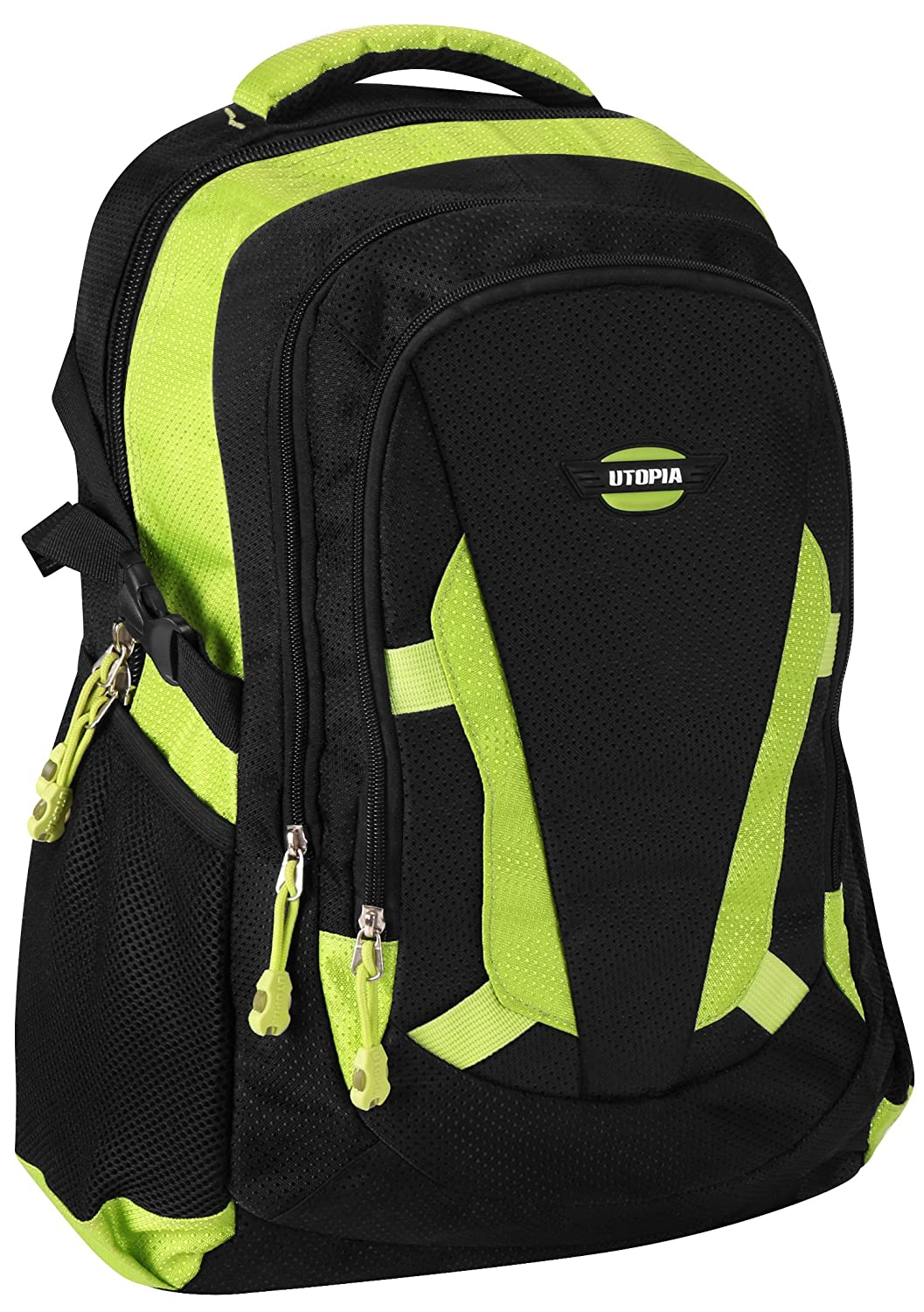 Laptop Backpack for Up to 15.6 Inch Laptops Lightweight Padded Sleeve Design by Utopia Home Green