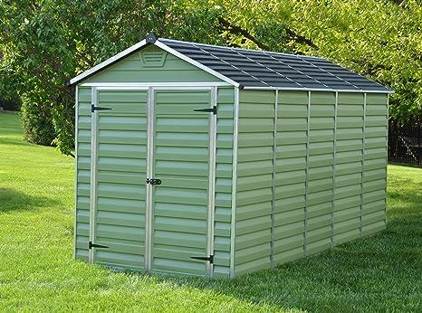 Cobertizo de plástico 12 x 6 (verde) limón Pavilion