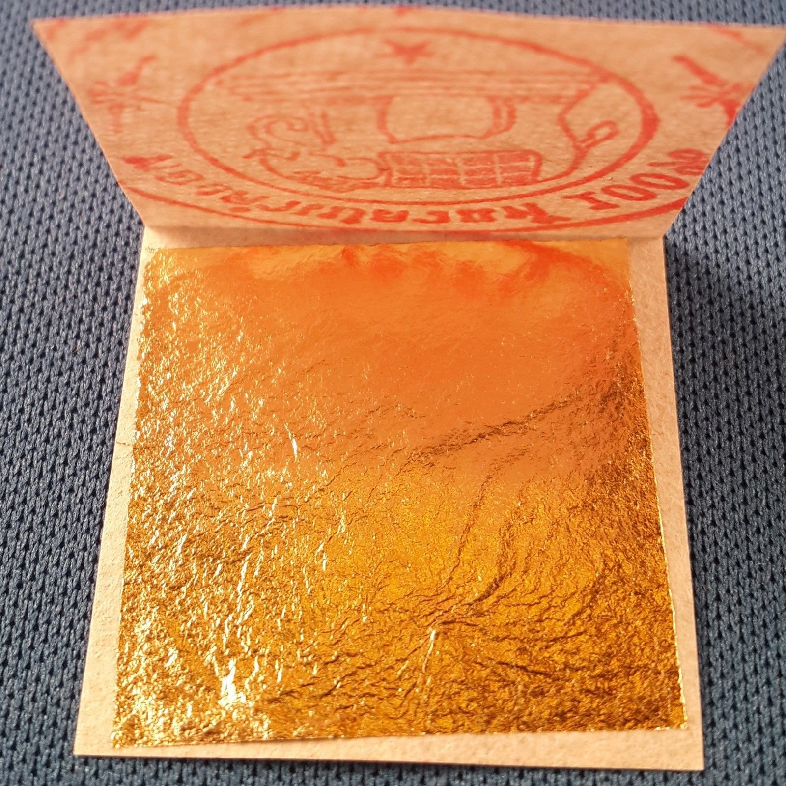 24K PURE EDIBLE GOLD REAL GENUINE LEAF LEAVES SHEET GILDING 1.18'' CRAFT MASK SPA - 500 PCS by shiro store