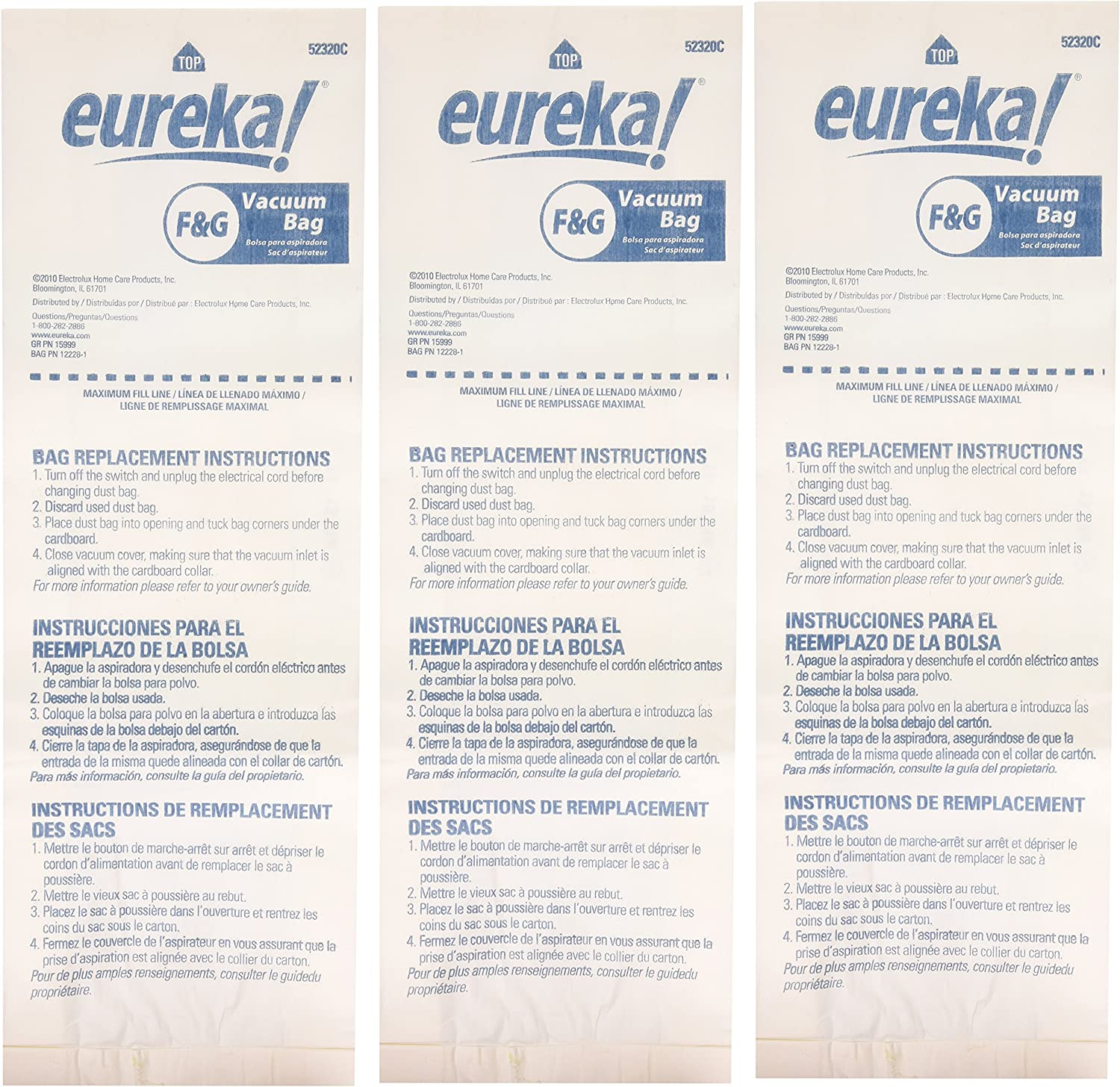 B00002N8CU Genuine Eureka F&G Disposable Dust Bag 52320C-6 - 3 pack 91-XBx5t6-L
