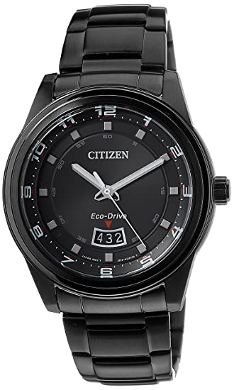 5e960c6d168 Buy Citizen Eco-Drive Analog Black Dial Men s Watch - AW1284-51E Online at  Low Prices in India - Amazon.in