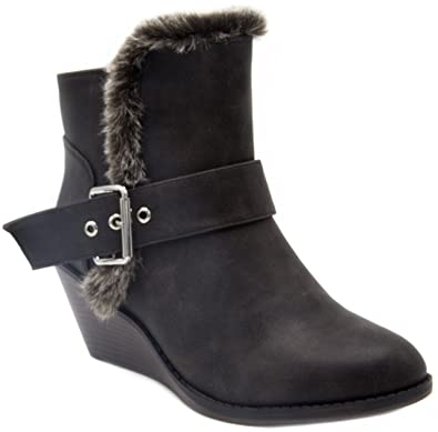 Women's Jane Winter Wedge Boot Ankle Bootie