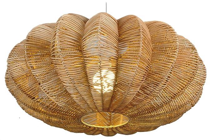 Plafoniere In Vimini : Naeve leuchten lampadario intrecciato a sospensione