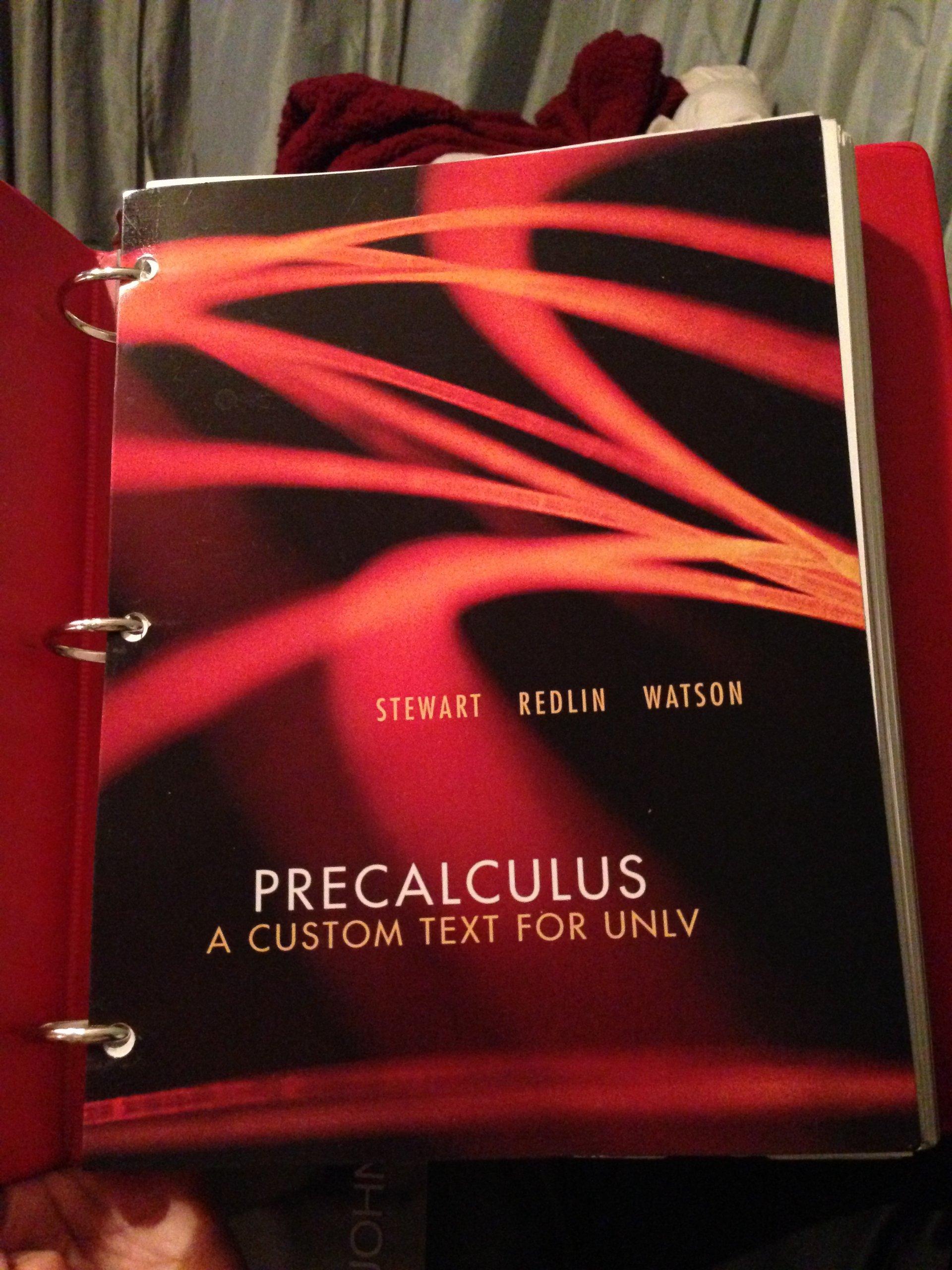 Precalculus A Custom Text For UNLV Amazon