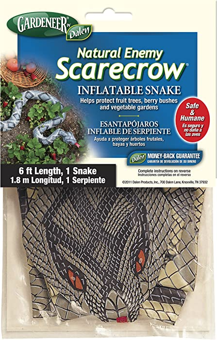 Gardeneer By Dalen Natural Enemy Scarecrow Inflatable Snake, Brown, 6 Ft. - 100055843