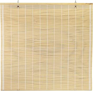 "ORIENTAL Furniture Matchstick Cordless Window Shade - Natural 48"" W"