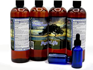 PureLife™ 12% Hydrogen Peroxide Food Grade with No Added Stabilizers - in Distilled Water (64 Oz +2 Droppers)