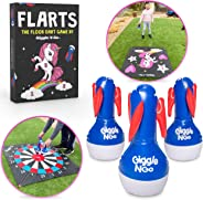 GIGGLE N GO Unicorn Lawn Darts Outdoor Games for Family Our FLARTS Lawn Games for Kids - Quality Backyard Games for Adults a