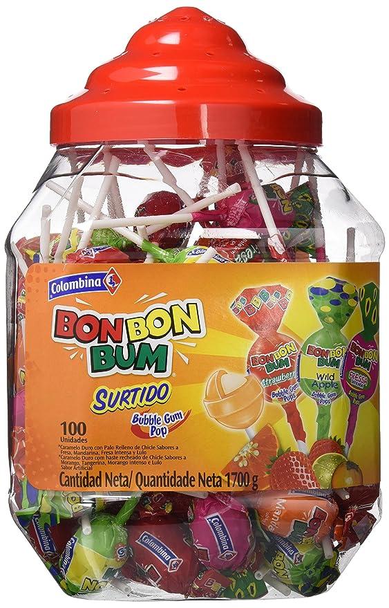 Bon Bon Bum Bubble Gum Bote Surtido - Paquete de 100 Unidades ...